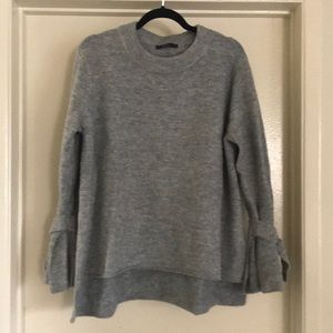 Zara stylish tie-sleeve sweater.